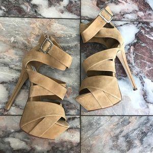 Steve Madden Lota Tan High Heel Shoes Size 7.5